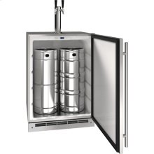 """Outdoor Collection 24"""" Keg Refrigerator With Stainless Solid Finish and Field Reversible Door Swing (115 Volts / 60 Hz)"""