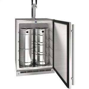"U-LineOutdoor Collection 24"" Keg Refrigerator With Stainless Solid Finish and Field Reversible Door Swing (115 Volts / 60 Hz)"
