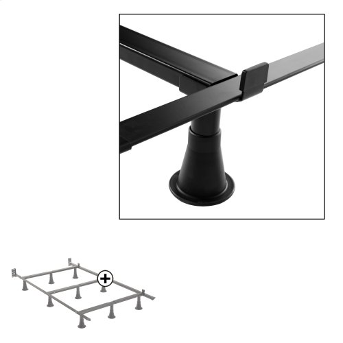 Prestige P34 Premium Adjustable Bed Frame with Push-Pin Size Adjustment and Oversized Recessed Glide Legs, Twin / Full