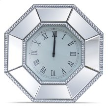 Octagonal Mirrored Wall Clock