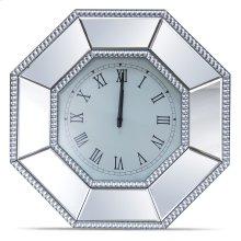 Octagonal Mirrored Wall Clock