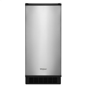 15-inch Icemaker with Clear Ice Technology - FINGERPRINT RESISTANT STAINLESS STEEL