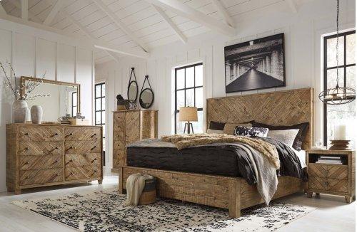 Grindleburg - Light Brown 2 Piece Bed Set (King)
