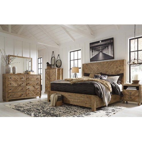 Grindleburg - Light Brown 2 Piece Bed Set (King)
