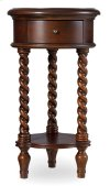 """Living Room 14"""" Inlay Top Round Accent Table"""