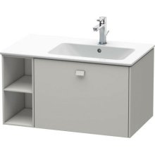 Vanity Unit Wall-mounted, Concrete Gray Matt Decor