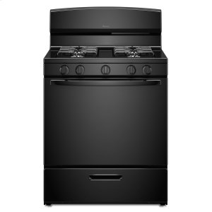 Amana30-inch Gas Range with EasyAccess Broiler Door Black