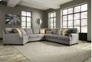 Cresson - Pewter Armless Loveseat, Armless Chair, Right Loveseat, Left Cuddler, Wedge Product Image