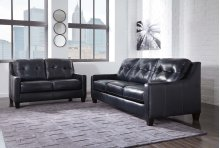 O'Kean Leather Sofa and Loveseat
