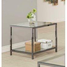 Contemporary Black Nickel Side Table