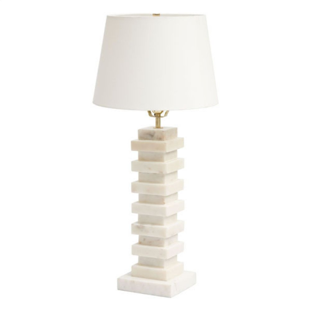 Stewart Table Lamp White