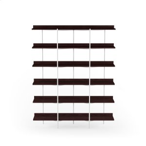 Bdi FurnitureShelving System 5306 in Charcoal Stained Ash Satin White