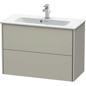 Vanity Unit Wall-mounted Compact, Taupe Satin Matt Lacquer