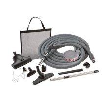 Carpet & bare floor combination air turbine pet care attachment set