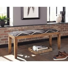 Bohemian Upholstered Bench