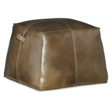 Living Room Birks Large Leather Ottoman
