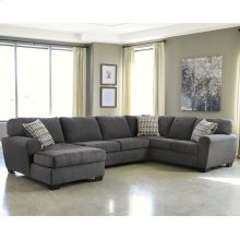 Benchcraft Sorenton 3-Piece Right Side Facing Sofa Sectional in Slate Fabric