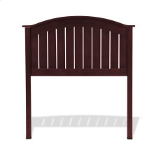 Finley Wooden Headboard Panel with Curved Top Rail Design, Merlot Finish, Twin
