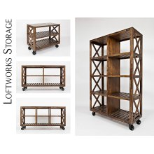 "Loftworks 36"" Trolley Cart"