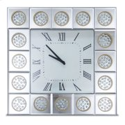 Square Wall Clock W/crystal Accents Product Image