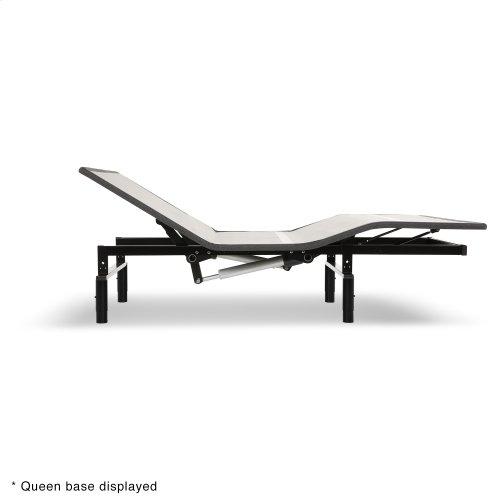 Sunrise 2 Slim-Profile Adjustable Bed Base for Platform Beds with Adjustable Legs, Charcoal Gray, Split California King