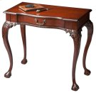 Selected solid woods, wood products and choice cherry veneers. Cherry veneer top, aprons and drawer front. Finished on all sides. Hand carved details. Drawer with antique brass finished hardware. Product Image