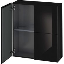 Semi-tall Cabinet, Black High Gloss Lacquer