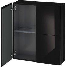 Semi-tall Cabinet, Black High Gloss Lacquer