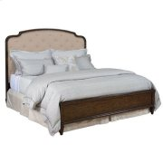 Grantham Hall Upholstered Queen Panel Bed Complete Product Image