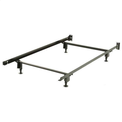 Inst-A-Matic Premium PC738G Bed Frame with Headboard Brackets and (4) 2-Piece Glide Legs, Powder Coat Finish, Twin