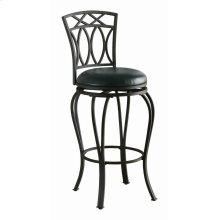 Casual Black Metal Bar Stool