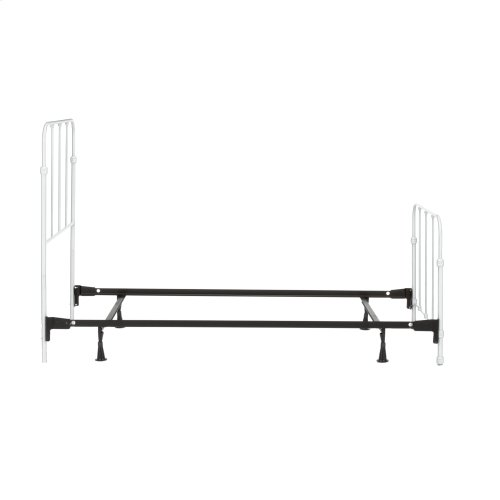 Nolan Fashion Kids Complete Metal Bed and Steel Support Frame with Fun Versatile Design, Arctic White Finish, Twin