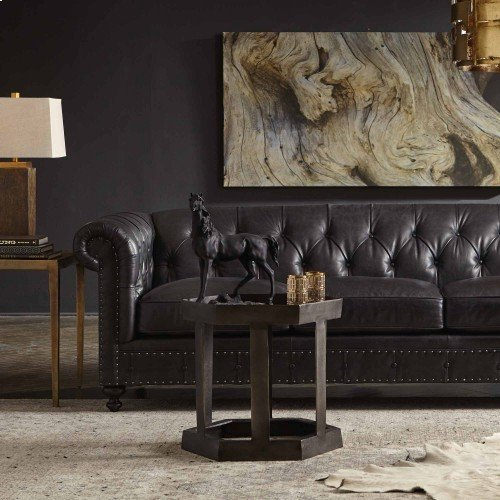 "London Club Sofa (116-1/2"") in Mocha (751)"