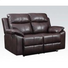 Leather-aire Loveseat W/motion