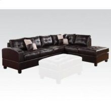 Kiva Espresso Sectional Sofa