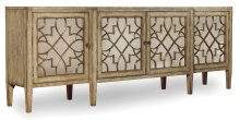 Dining Room Sanctuary Four-Door Mirrored Console - Surf-Visage