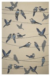 """CLEARANCE ITEM--Harbor 4221 Ivory Birds On A Wire 5' X 7'6"""" Product Image"""
