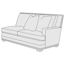 Cantor Right Arm Loveseat in Molasses (780)