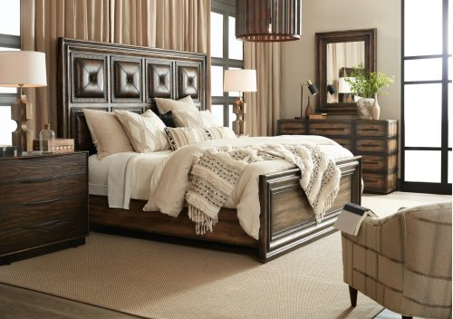 Bedroom Crafted King Panel Bed