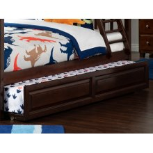Raised Panel Trundle Twin/Full in Walnut