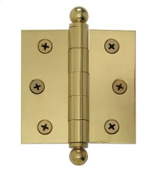 Nostalgic Warehouse - Small Ball Tipped Hinge in Polished Brass