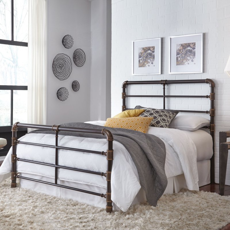 on leg and frame rustic headboards b the home headboard raised footboard metal with bed decor ideas queen size best