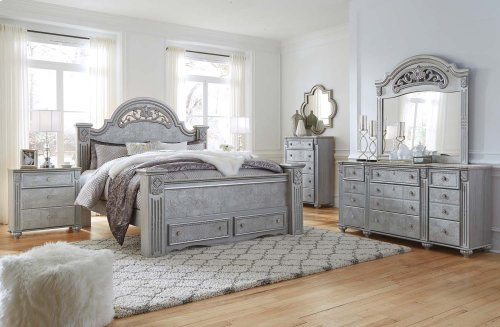 Zolena - Silver 3 Piece Bed Set (King)