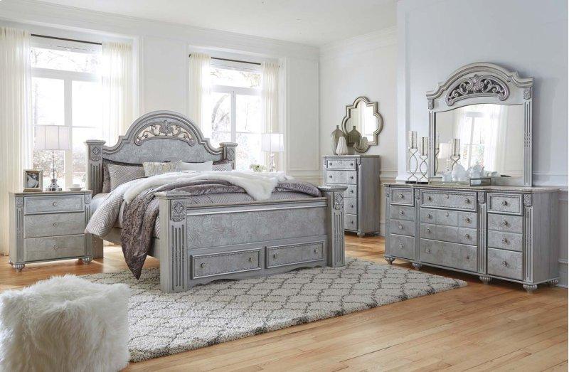Hidden Additional Zolena Silver 2 Piece Bedroom Set