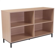 Oak Wood Grain Finish Bookshelf