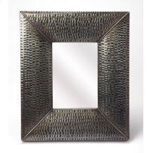 Hammered gray frame brings a touch of shimmering appeal to your ensemble, blending an industrial design with contemporary style, this mirror is perfect to bring dimension to your entry, hall or living area.