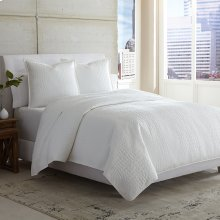 3 pc Queen Covelet/Duvet White