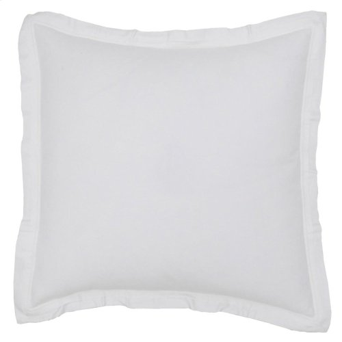 Harlow White 3Pc Euro Sham Set