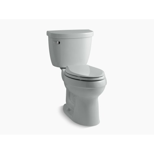 Ice Grey Comfort Height Two-piece Elongated 1.28 Gpf Toilet With Aquapiston Flushing Technology, Left-hand Trip Lever and Insuliner Tank Liner, Seat Not Included