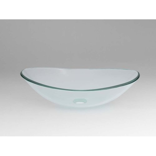 Boat Tempered Glass Vessel Bathroom Sink in Clear